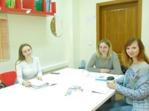 занятие по разговорному английскому со взрослыми слушателями