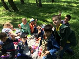 летний лингвистический лагерь 2018 - прогулки на природу